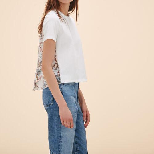 T-Shirt mit Print an der Rückseite - Tops - MAJE
