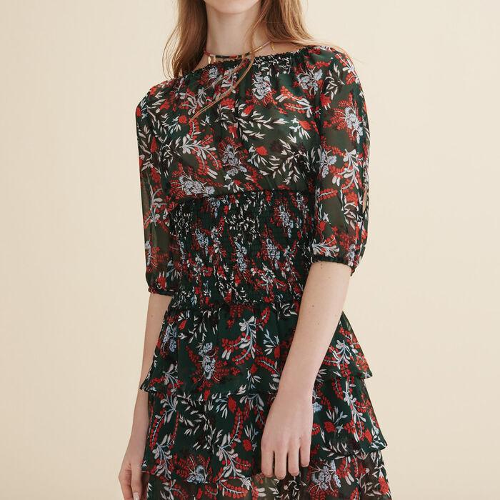 Kurzes Kleid mit volants -  - MAJE