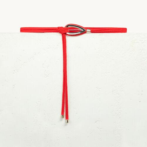 Strickgürtel mit Schmuck - Gürtel - MAJE