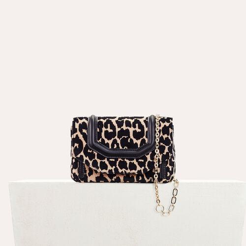 Abendtasche mit Leopardenaufdruck - Schultertaschen - MAJE