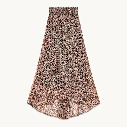Langer, asymmetrischer Rock mit Aufdruck - Röcke & Shorts - MAJE