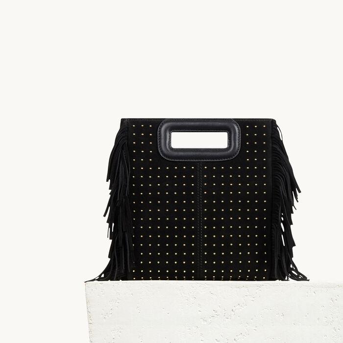 Tasche aus Leder mit Nieten und Fransen - Black friday - MAJE