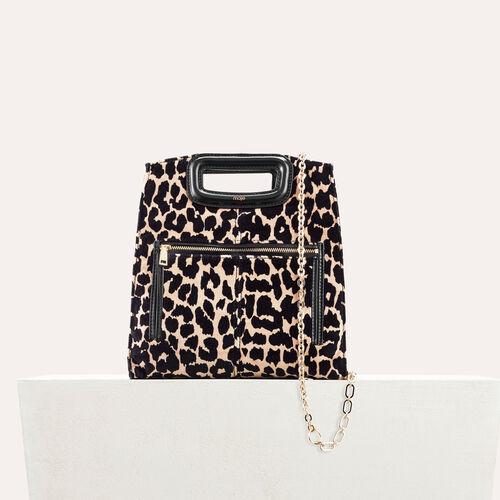 Tasche mit leopardenaufdruck - M Tasche - MAJE