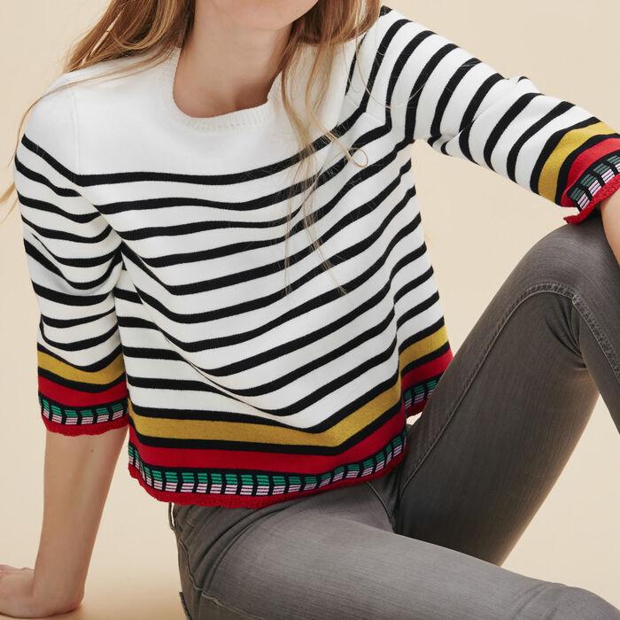 Pullover im Matrosen-Stil -  - MAJE