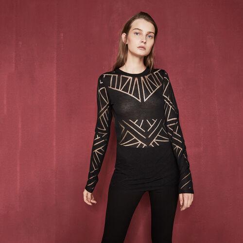 Pullover mit geometrischen Motiven - Strickwaren - MAJE