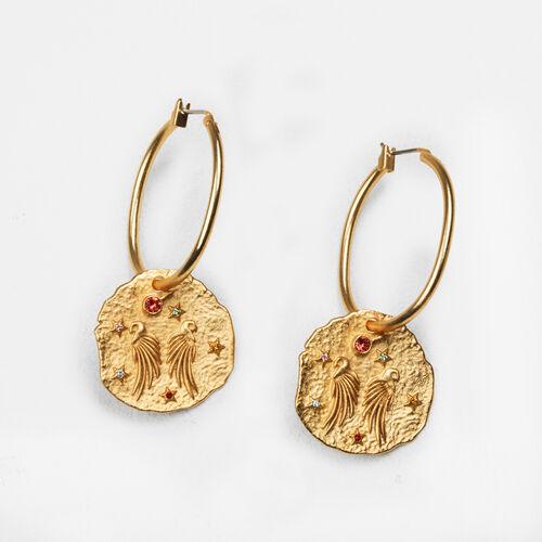 Ohrringe mit gehämmerter Medaille - Schmuck - MAJE