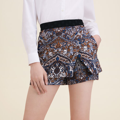 Jacquard-Shorts in 2-in-1-Optik - Röcke & Shorts - MAJE