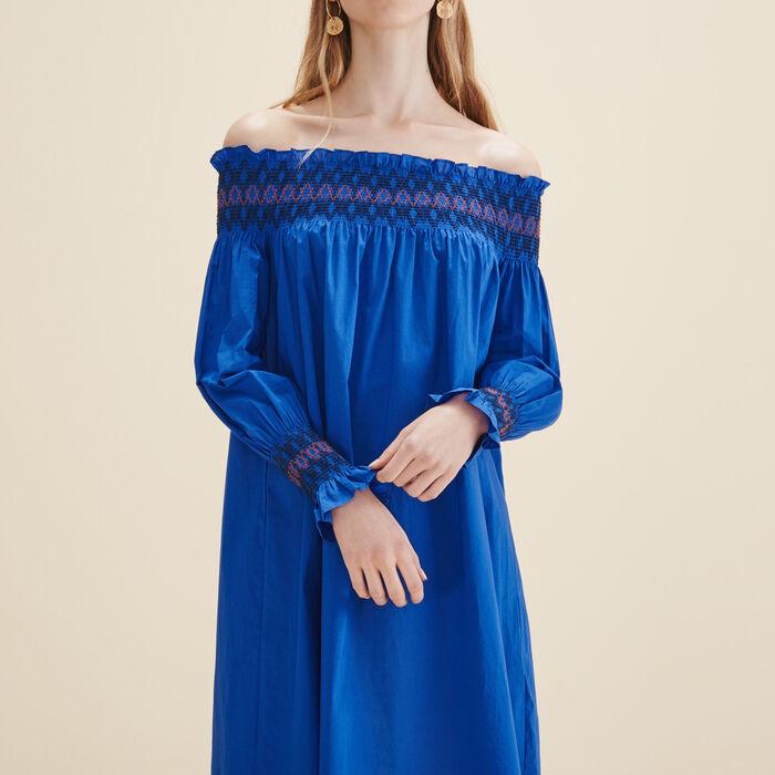 Schulterfreies Kleid -  - MAJE