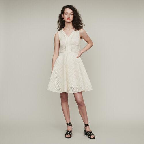 마쥬 REINETTE 민소매 원피스 에크루 MAJE REINETTE AErmelloses Kleid aus dichtem Strick - ECRU