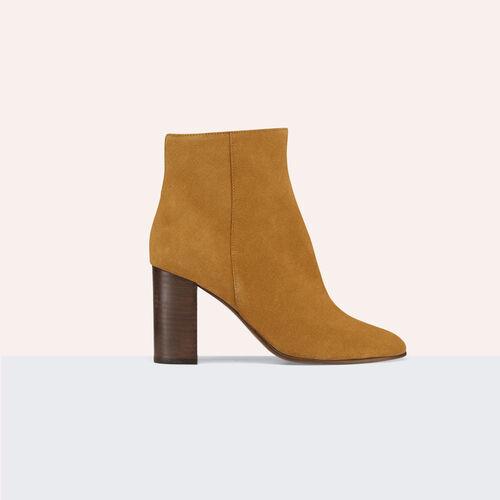 Stiefeletten aus Veloursleder - Schuhe - MAJE