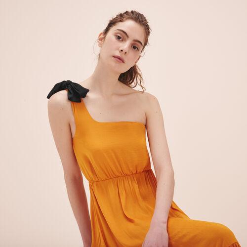 Langes asymmetrisches Kleid - Kleider - MAJE