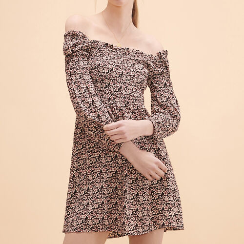 Kurzes Kleid mit Blumenmotiv - Kleider - MAJE
