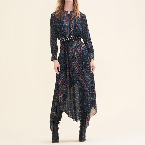 Langes Kleid mit Print - Kleider - MAJE