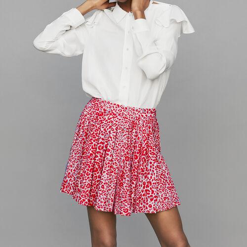 [50% SALE] 18 F/W 마쥬 스커트 MAJE JIMONE Plissee-Kleid mit Leoparden-Print - Roecke & Shorts,IMPRIME