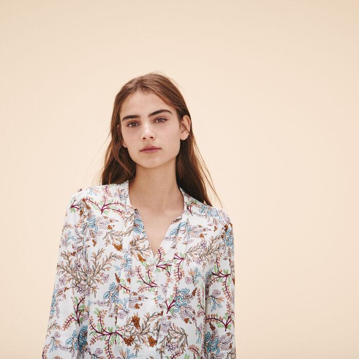 Bluse mit Blumenmotiv -  - MAJE