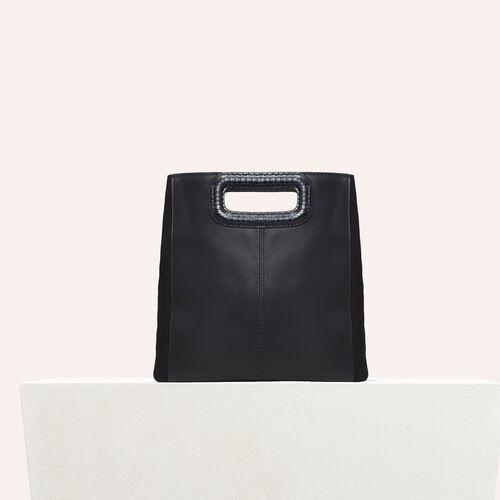 Tasche aus Leder - M Tasche - MAJE