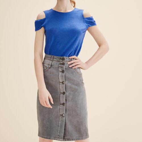 Bleistiftrock aus Jeans - Röcke & Shorts - MAJE