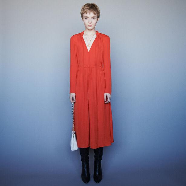 마쥬 원피스 MAJE 119ROUGE Kleid mit Kordelzug in der Taille - Kleider