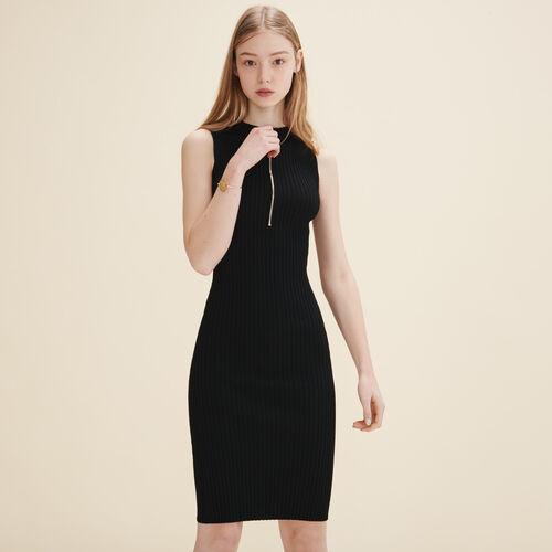 Ärmelloses Kleid aus Strick - Kleider - MAJE