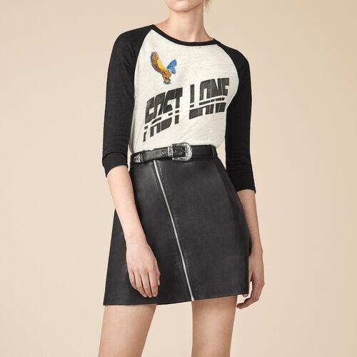 Trapezrock aus Leder - Röcke & Shorts - MAJE