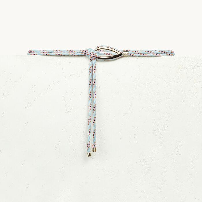 Strickgürtel mit Schmuck -  - MAJE