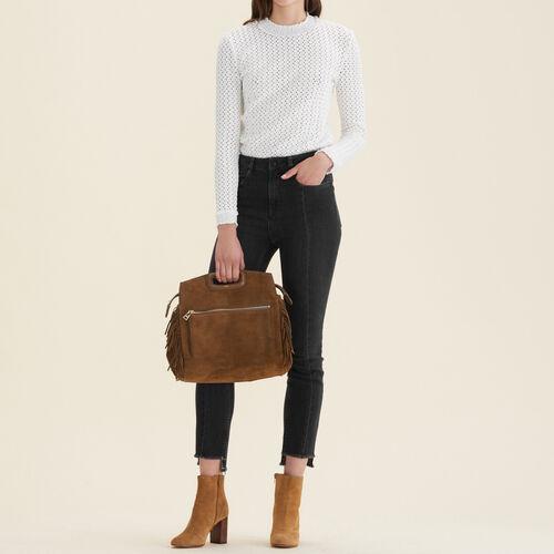 Gerade Jeans mit asymmetrischem Saum : Jeans farbe Schwarz