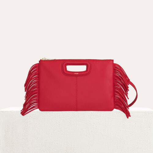 M Duo Clutch aus Leder : M Duo farbe Rot
