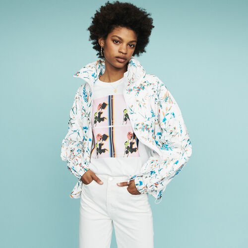 Windbreaker with floral print : Mäntel & Jacken farbe IMPRIME
