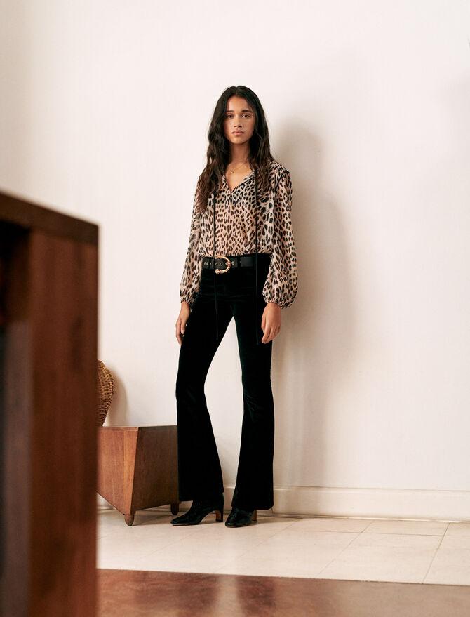 Ausgestellte Samthose - Hosen & Jeans - MAJE