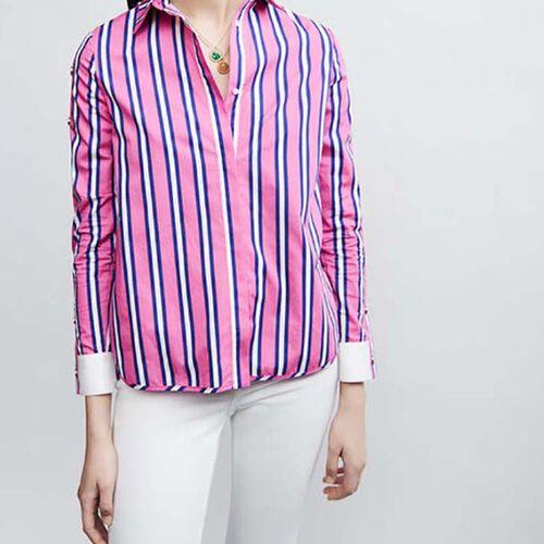 Hembluse aus baumwolle : Hemden farbe Gestreift