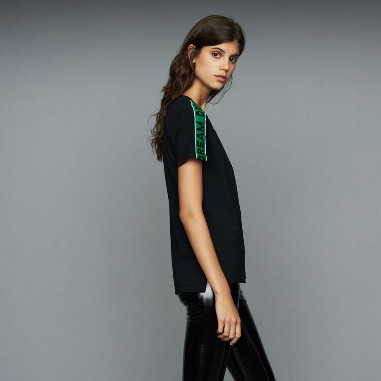 Loose T-Shirt mit Einfassbändern : T-Shirts farbe Schwarz