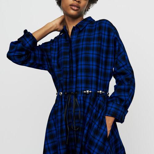 Langes Hemdkleid mit Karos : Kleider farbe CARREAUX