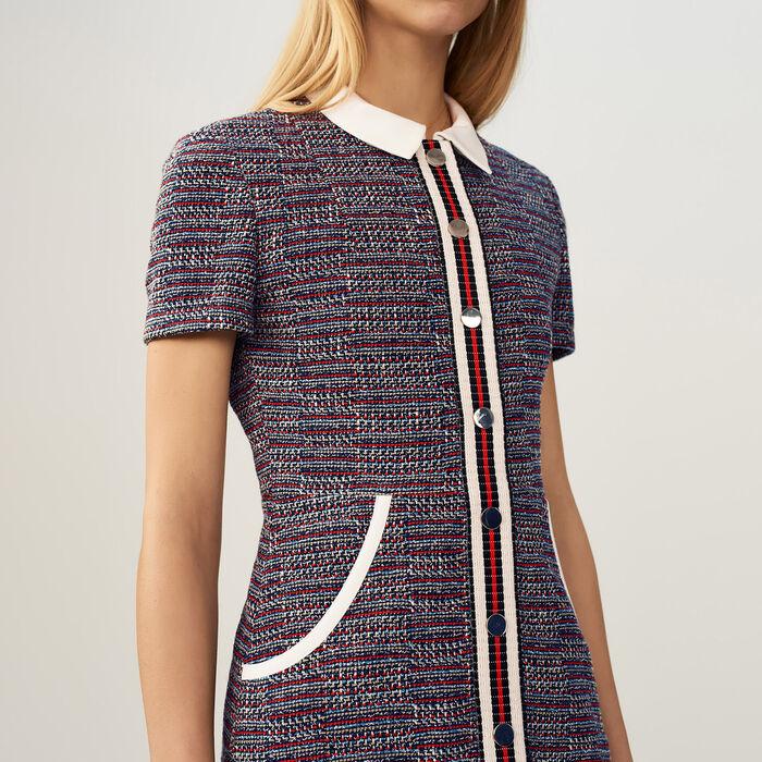Tweedkleid : Kleider farbe Jacquard
