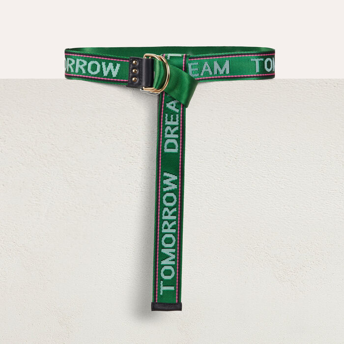 """Dream Tomorrow""-Gürtel High- oder : Gürtel farbe Grün"