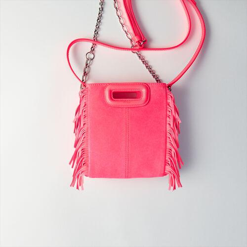 Quilted velvet crossbody bag : M Mini farbe Fluo-Rosa