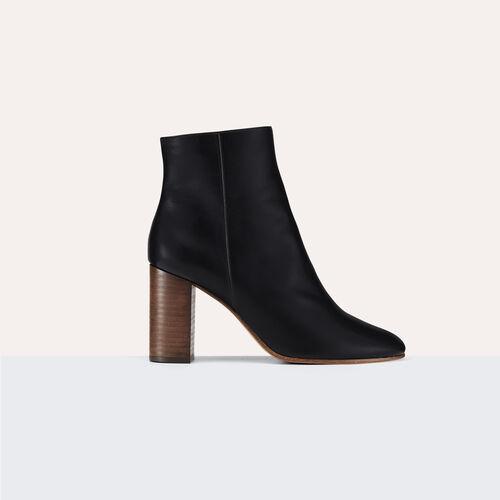 Stiefeletten aus Leder : Schuhe farbe Schwarz