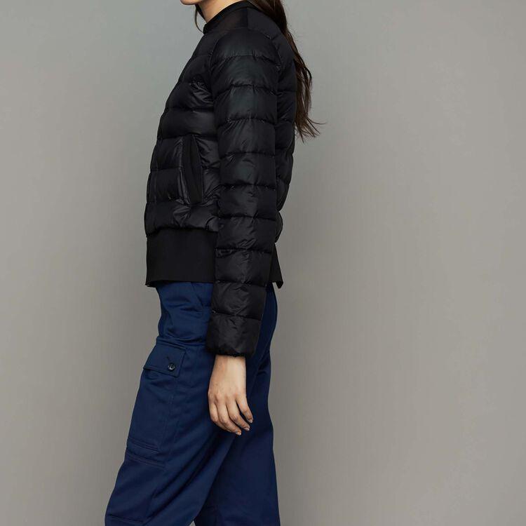 Leichte Daunenjacke mit Schößchen : Neue Kollektion farbe Schwarz