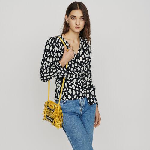 Bedrucktes Top mit Umschlag : Tops & Hemden farbe IMPRIME