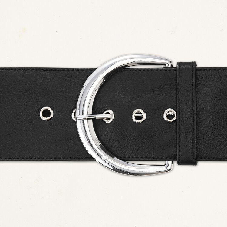 Gürtel aus weichem Leder : Gürtel farbe Schwarz