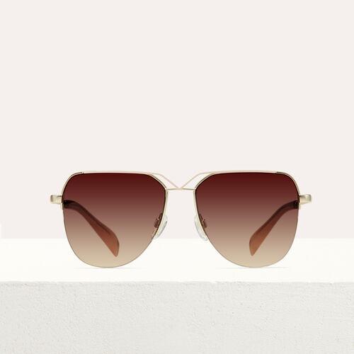 Sonnenbrille in Pilotenform : Brillen farbe Rosa