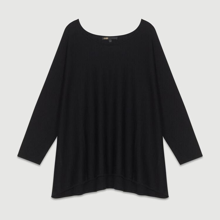 Kurzer Mantel mit Gürtel : Strickwaren farbe Schwarz