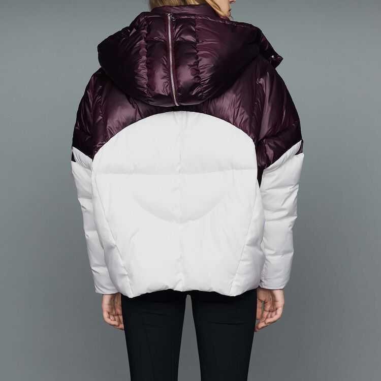 Kurze zweifarbige Jacke : Mäntel farbe Weiss
