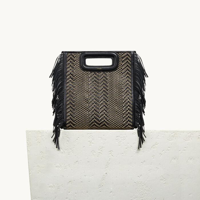 M Tasche aus Leder mit Flechtdetails -  - MAJE
