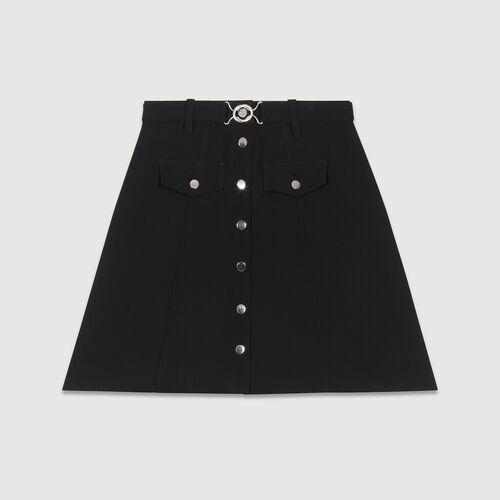 Skinny Jeans aus Baumwoll-Stretch : Röcke & Shorts farbe Schwarz
