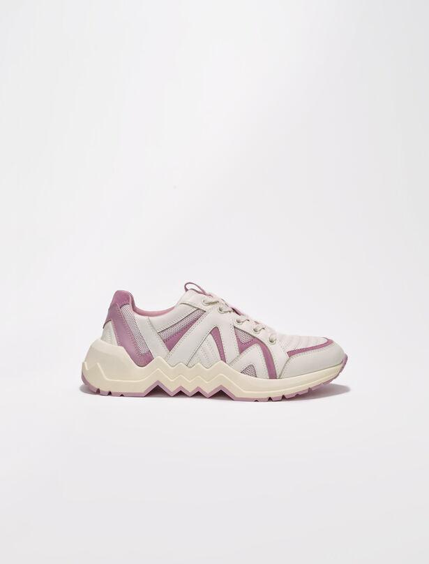 마쥬 스니커즈 MAJE Sneakers aus Leder mit Profilsohle