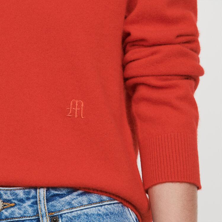Kaschmir Pullover mit Rundkragen : Pullover & Strickjacken farbe Rot
