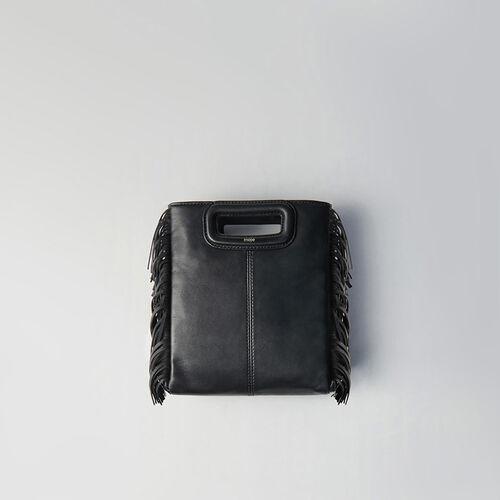 Mini M Tasche aus gestepptem Leder : M Tasche farbe Schwarz