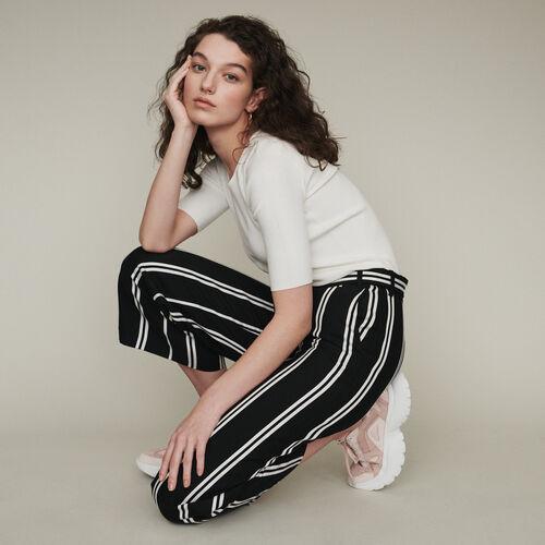 Weite 7/8 Hose mit Streifen : Hosen & Jeans farbe Gestreift