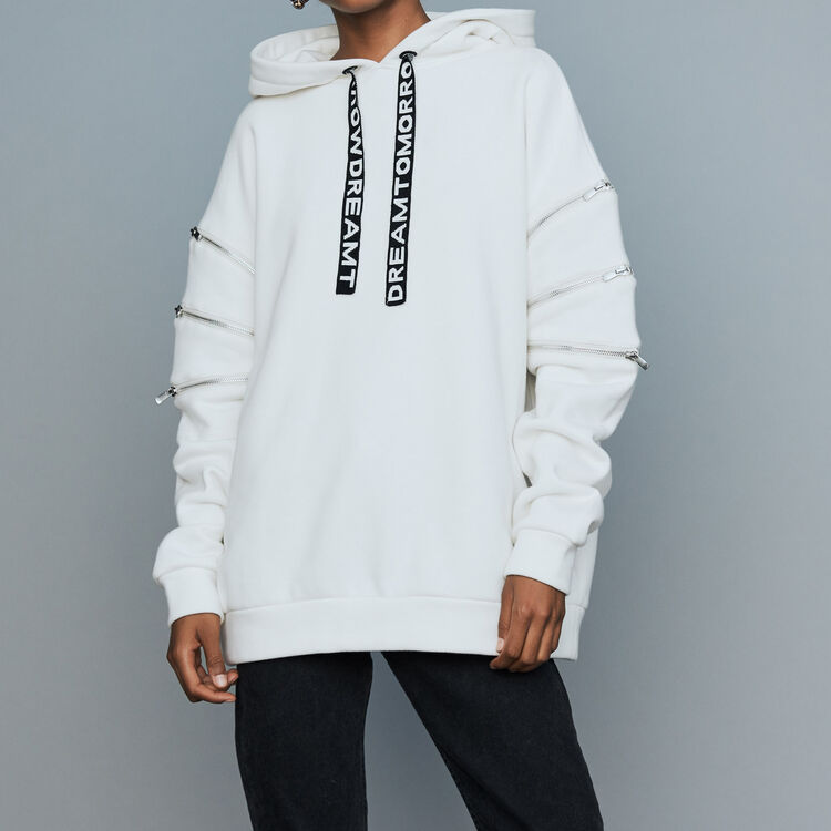 Sweatshirt mit Kapuze : Neue Kollektion farbe Weiss