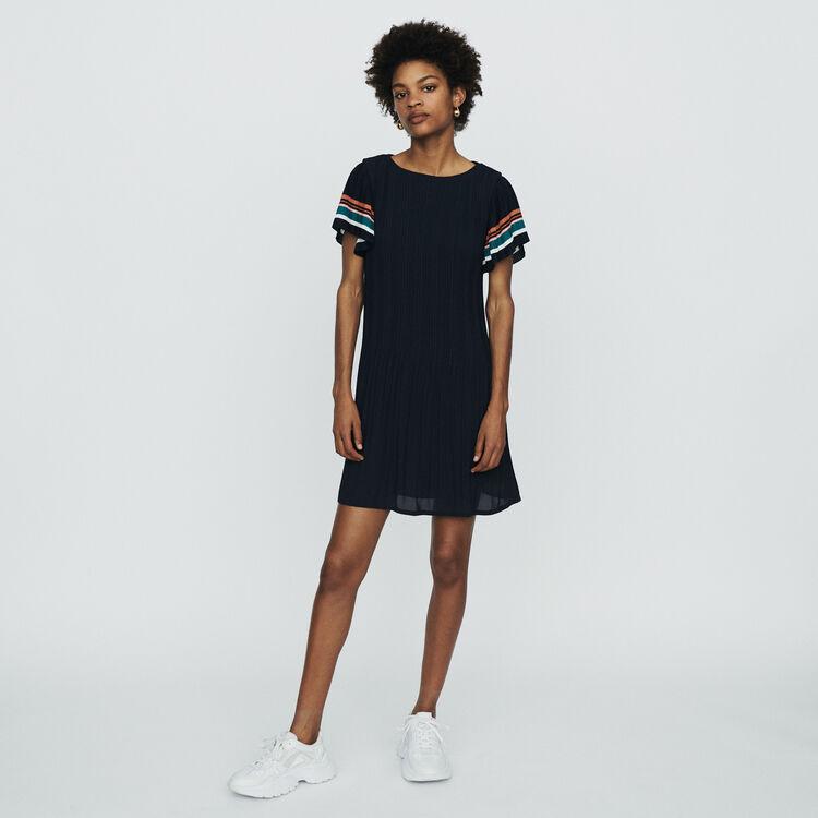 Plissee-Kleid : Kleider farbe Marineblau